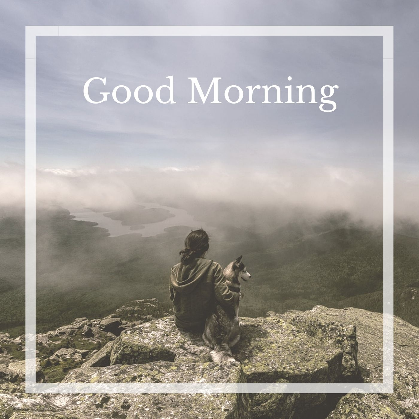 Good Morning Cloud on Hill Image full HD free download.
