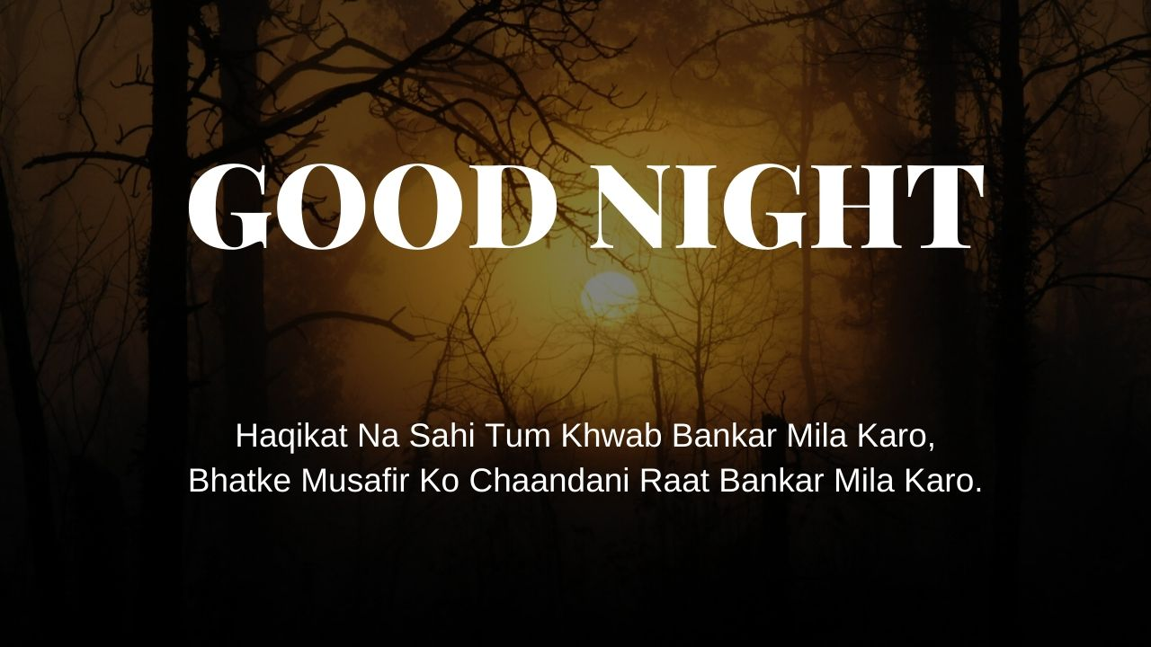 Good Night Image Hindi Shayari full HD free download.