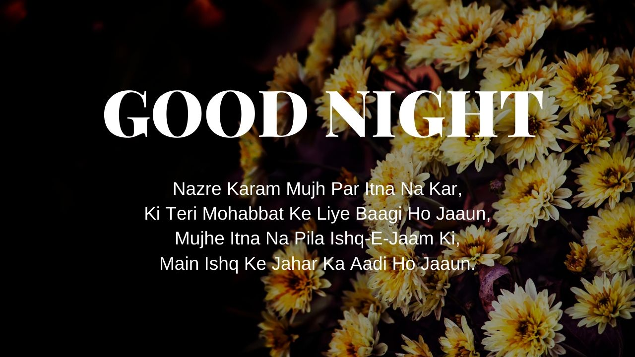 Good Night Shayari Pic full HD free download.