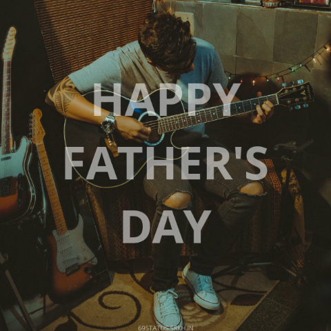 Happy Fathers Day Guitar Image full HD free download.