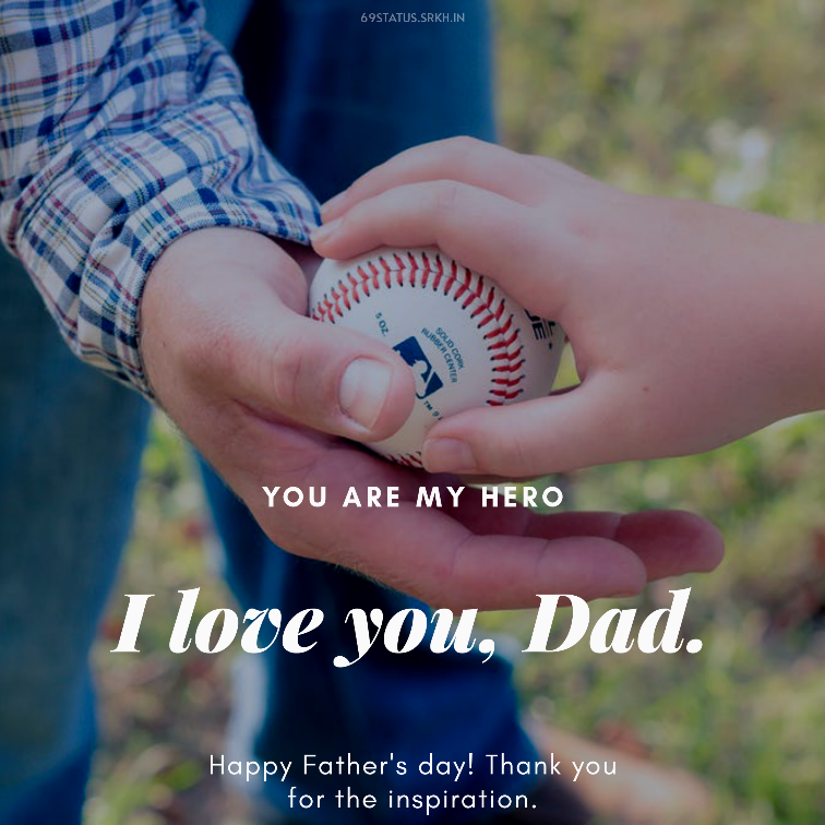 Happy Fathers Day with Baseball Image HD full HD free download.