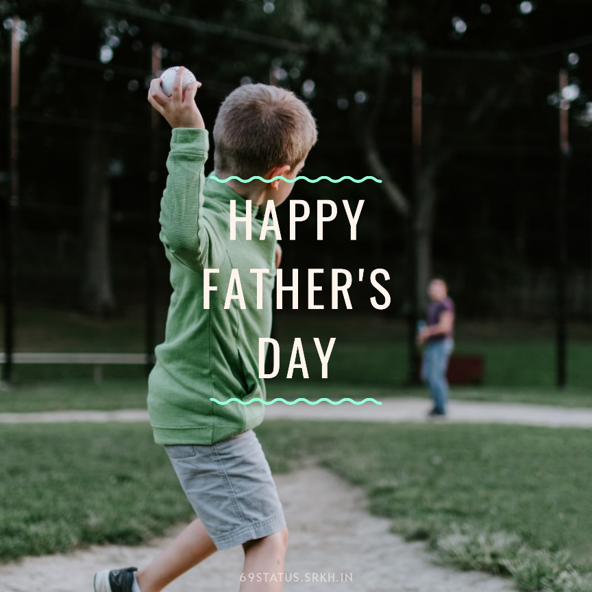 Happy Fathers Day with Baseball Images HD full HD free download.