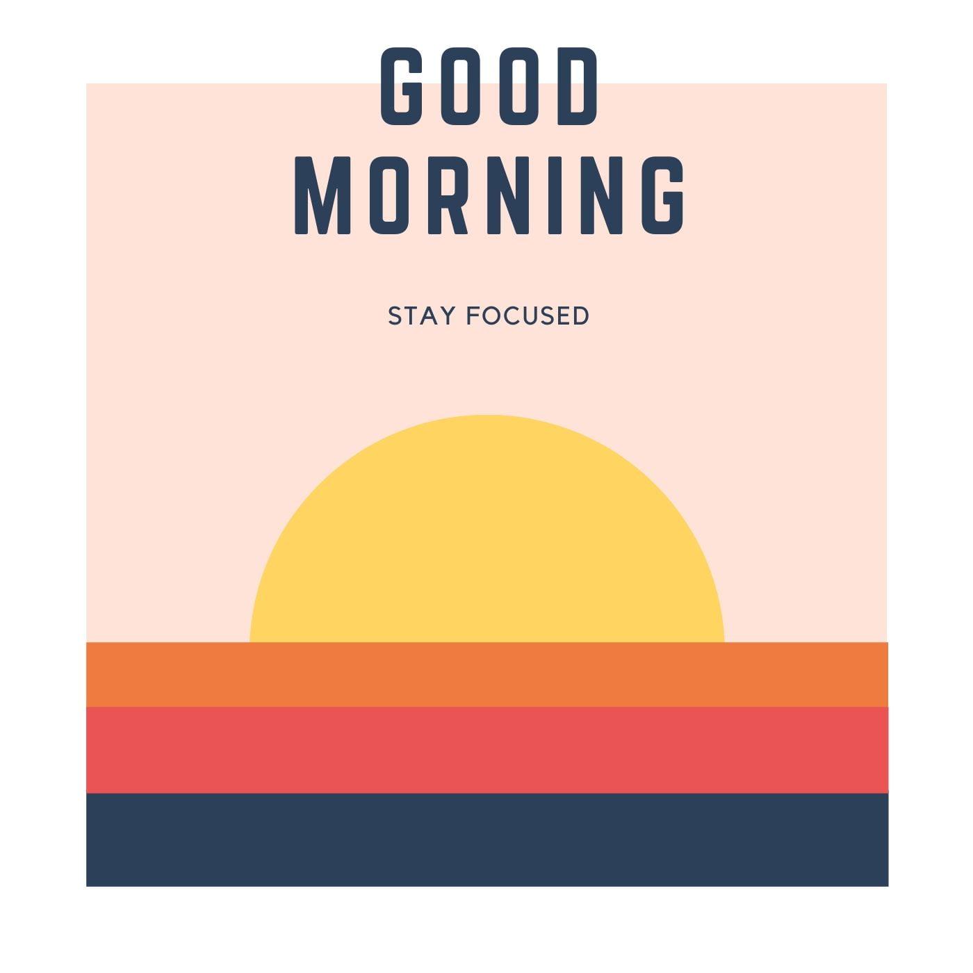 Sun rising Sketch Good Morning Image full HD free download.