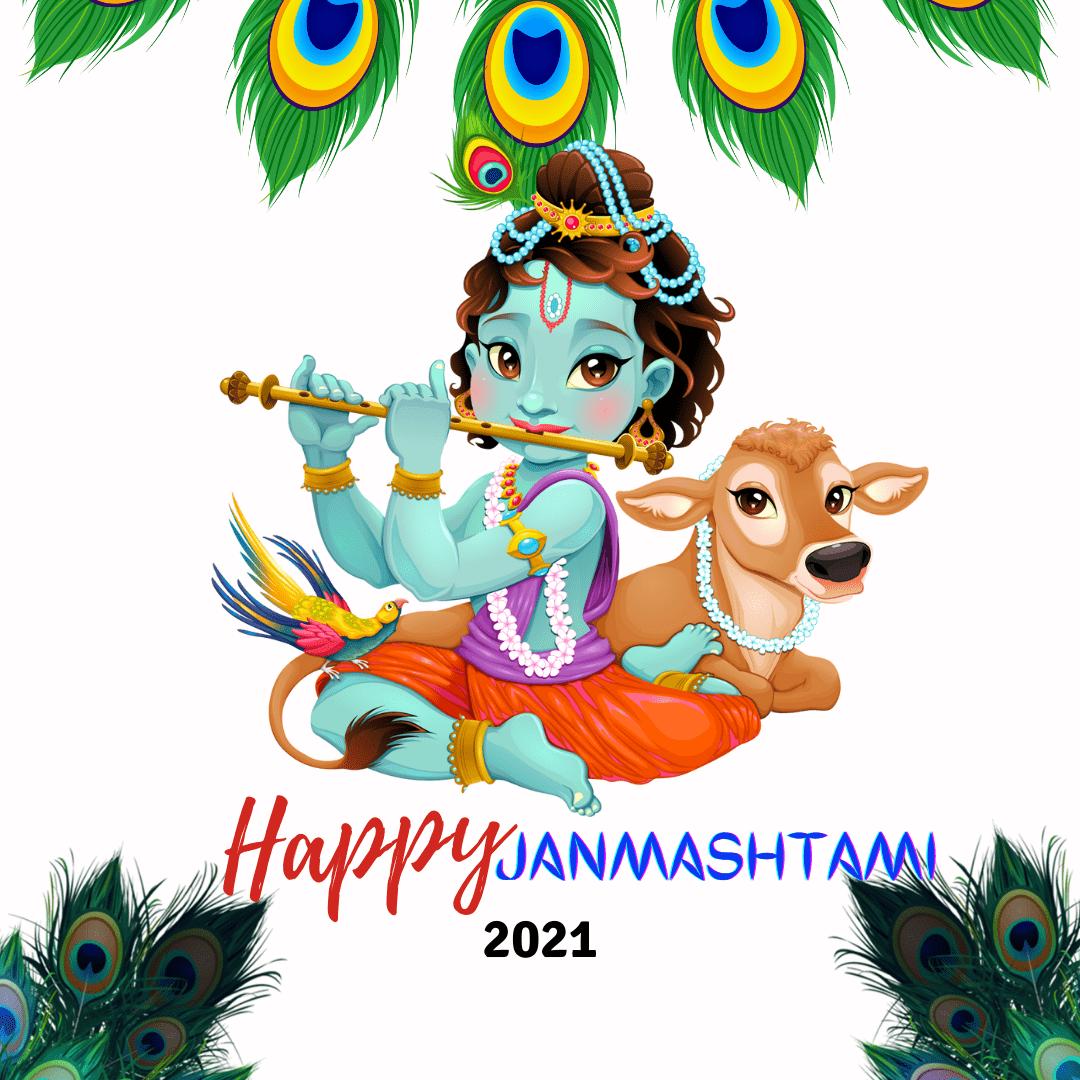 Baby Happy Janmashtami Wallpaper