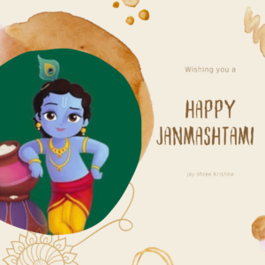 Banner For Happy Janmashtami full HD free download.