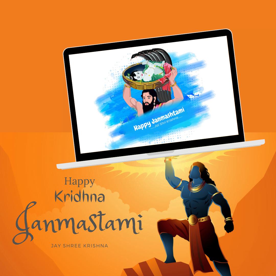 Happy Janmashtami digital