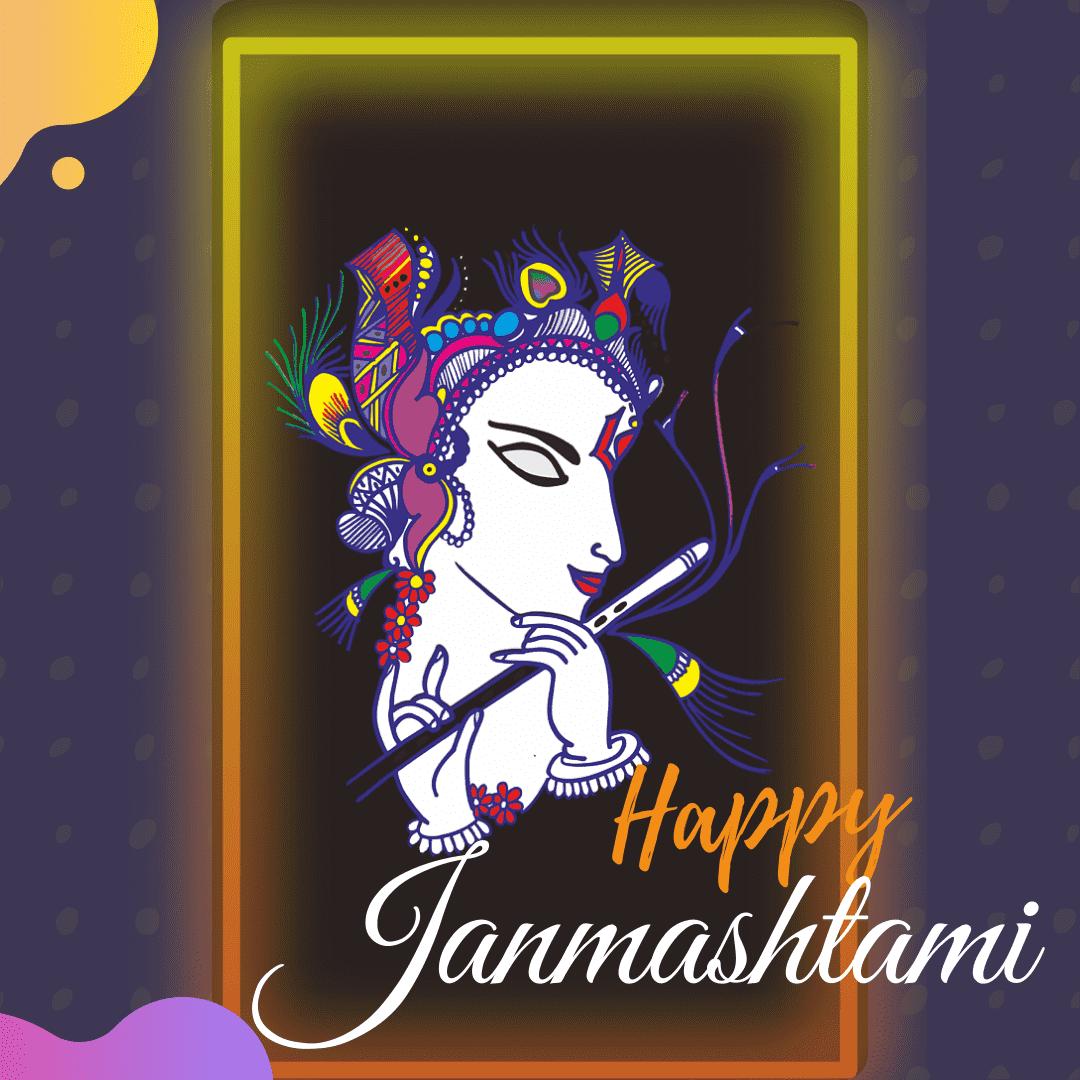 Happy Krishna Janmashtami Drawing Images Hd 3d