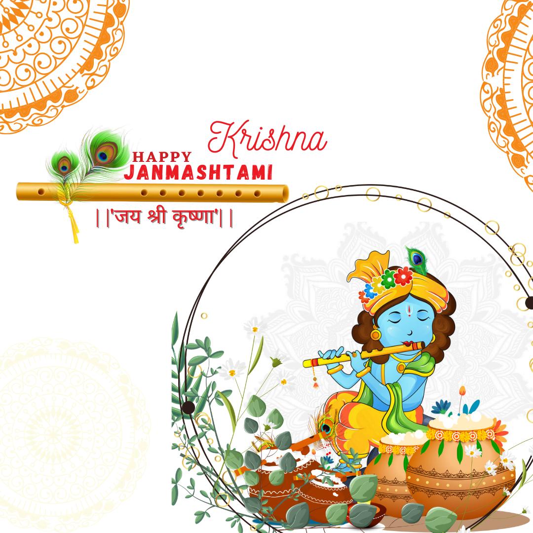 Happy Krishna Janmashtami Image hd