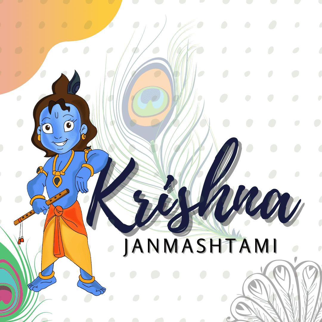 Littel Krishna Janmashtami Hd Drawing Images